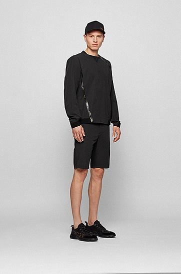 蜂窝网眼徽标细节低帮运动鞋,  007_黑色