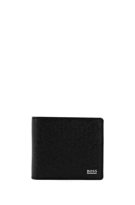 Signature Collection wallet in palmellato leather, Black