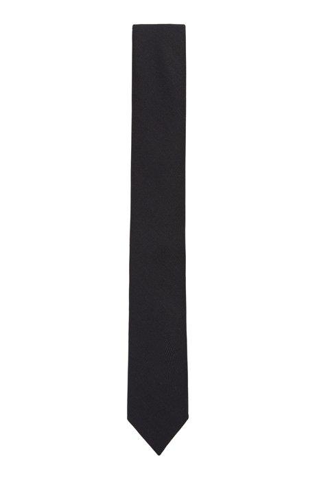 イタリア製ネクタイ ミッドウエイトファブリック, ブラック