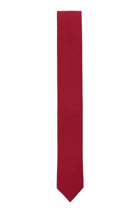 イタリア製ネクタイ ミッドウエイトファブリック, ダークレッド