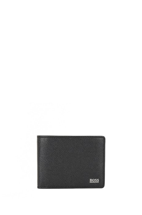 Signature Collection billfold wallet in palmellato leather, Black