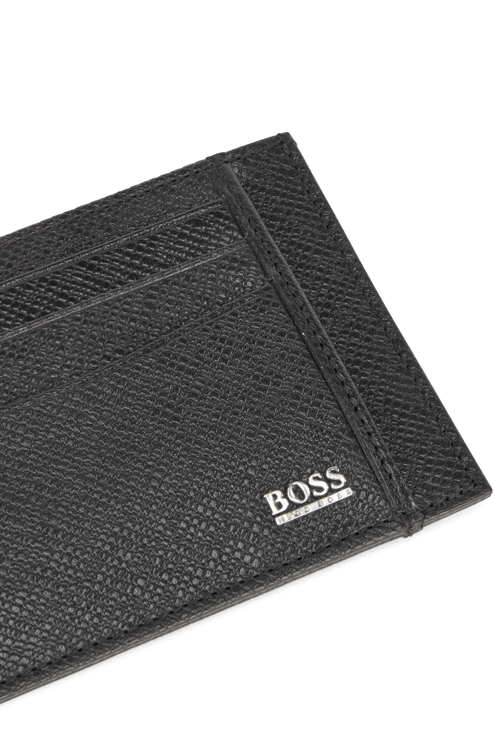 Signature Collection card holder in embossed Italian leather