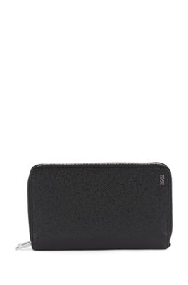 Signature Collection travel wallet in Saffiano leather, Black