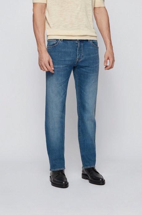 Regular-fit jeans in blue comfort-stretch denim, Blue