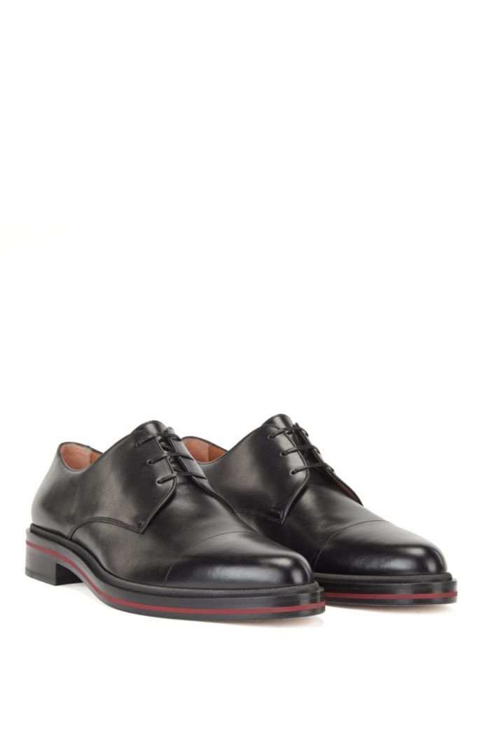 Italian-made leather Derby shoes with contrast mid-sole
