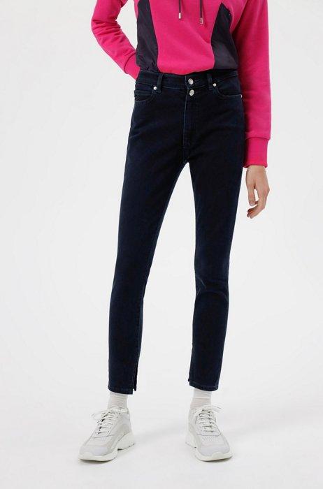 LOU skinny-fit jeans in blue-black stretch denim, Dark Blue