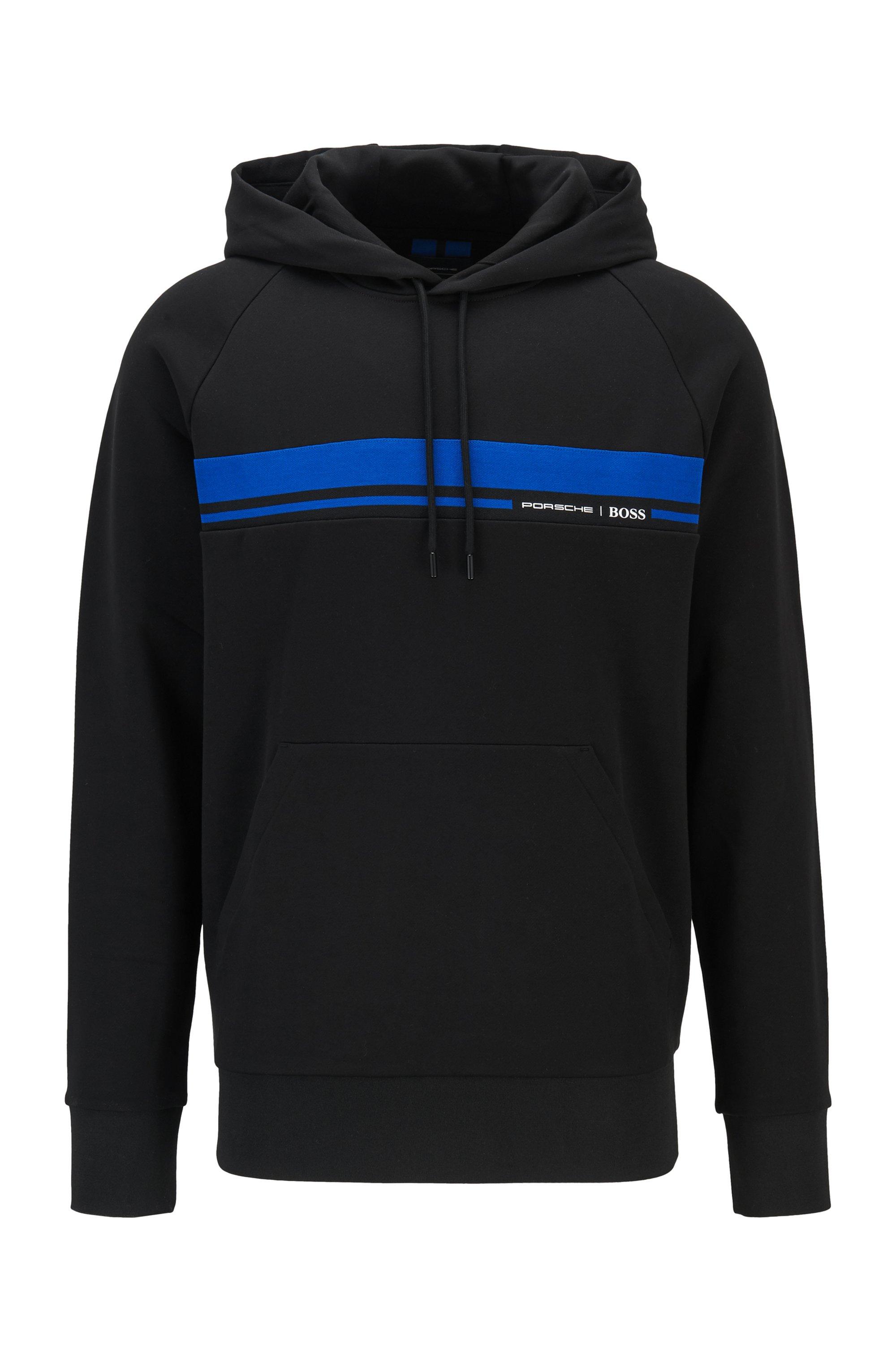Regular-Fit Sweatshirt aus merzerisiertem Baumwoll-Terry , Schwarz