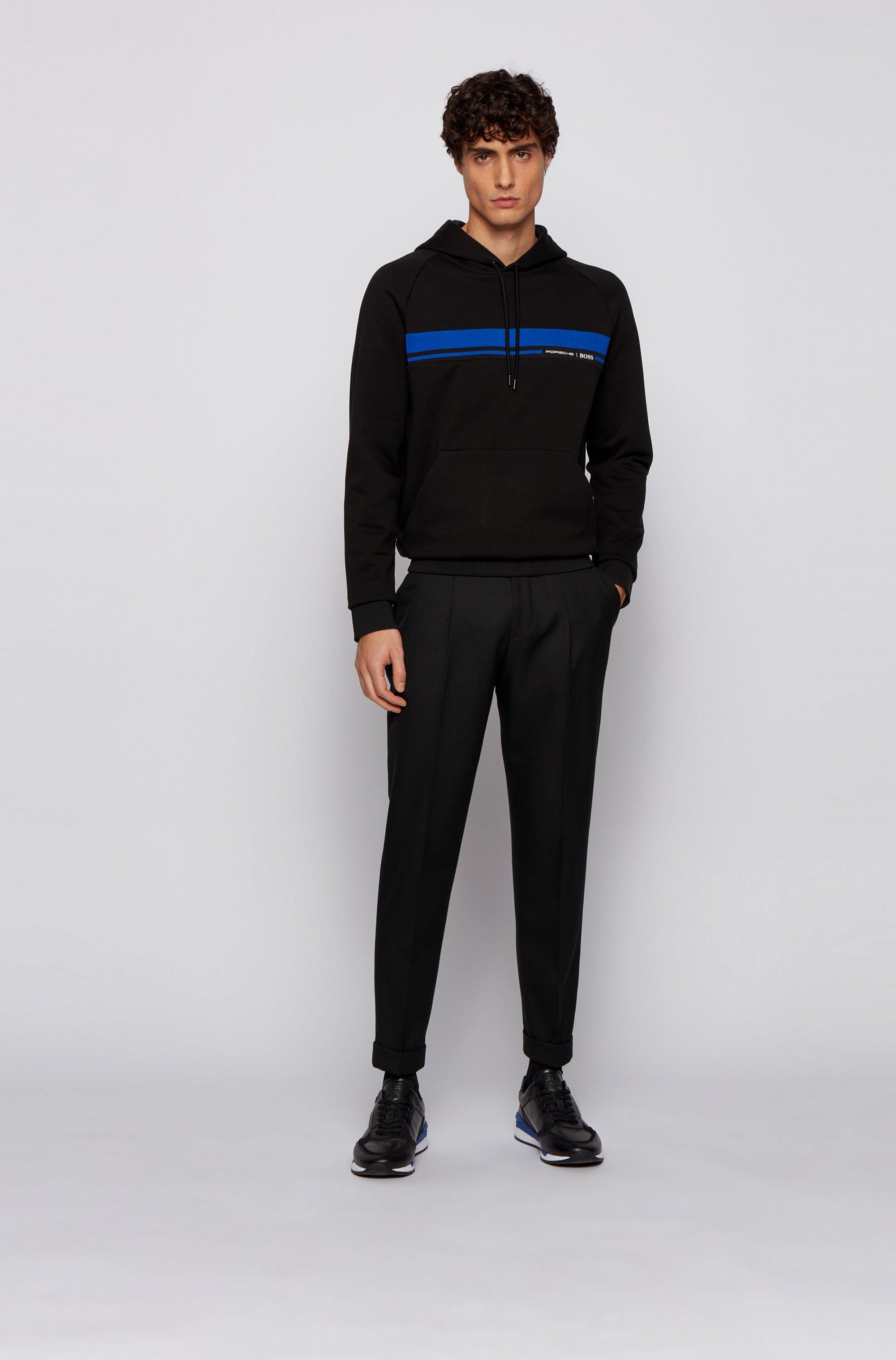 Regular-Fit Sweatshirt aus merzerisiertem Baumwoll-Terry