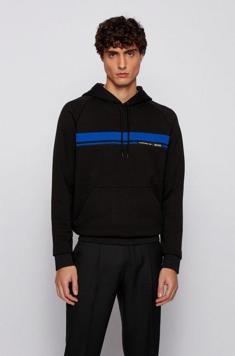 Regular-fit sweatshirt in mercerised cotton terry , Black