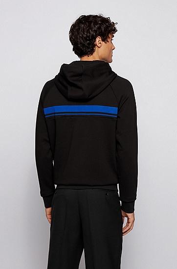 Porsche联名款男士丝光棉毛圈布常规版运动衫,  001_黑色