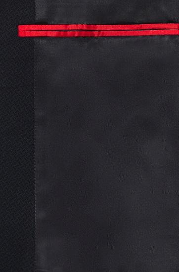 初剪羊毛超修身西装三件套,  001_黑色