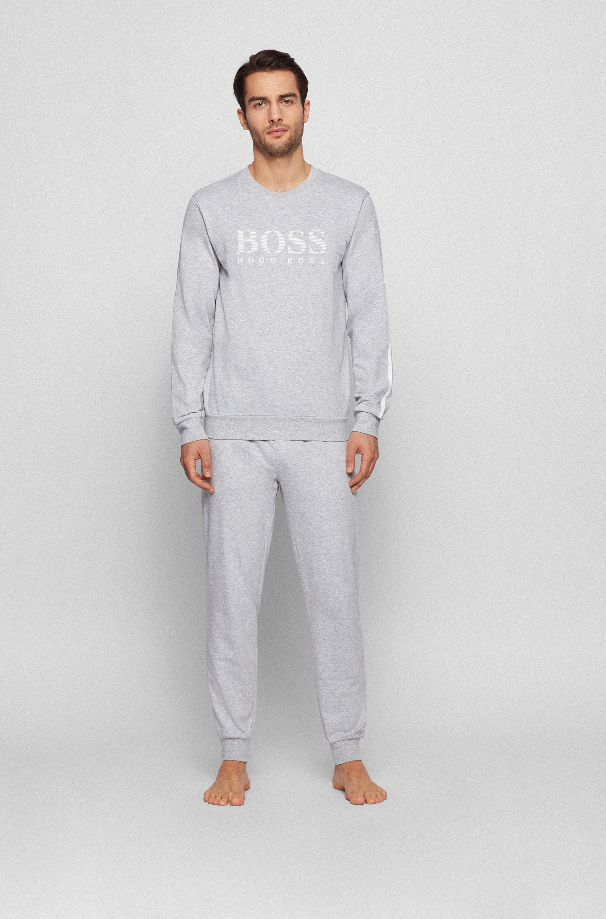 Sweatshirt aus French Terry mit gestreiftem Logo und Kontrast-Tape