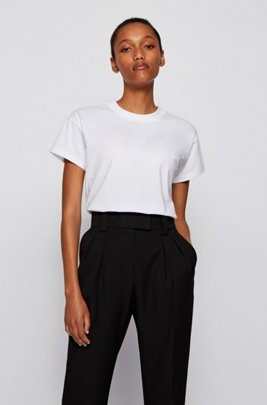 Relaxed-fit T-shirt in Recot²® jersey, White