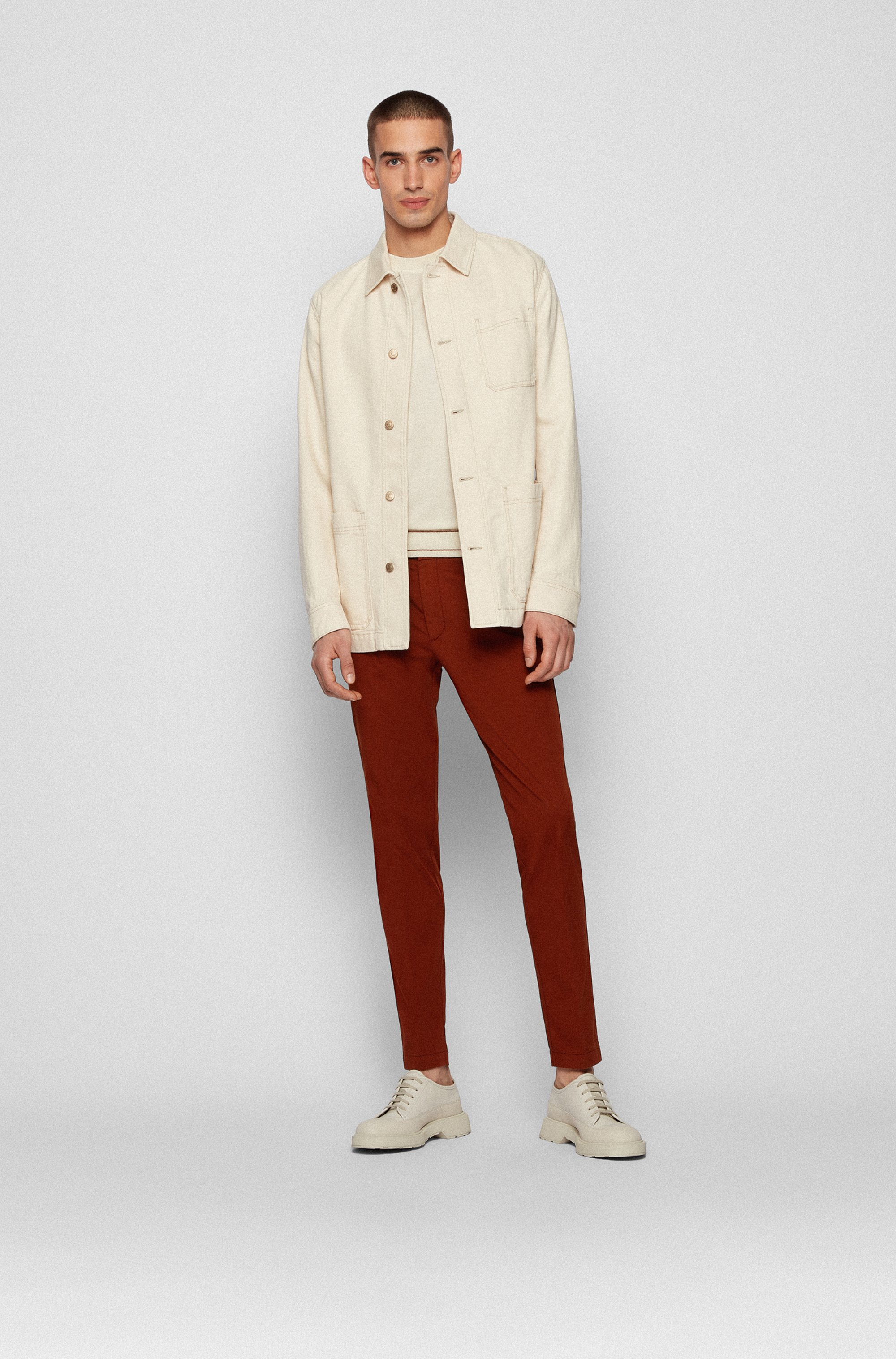 T-shirt-style sweater in mercerised cotton