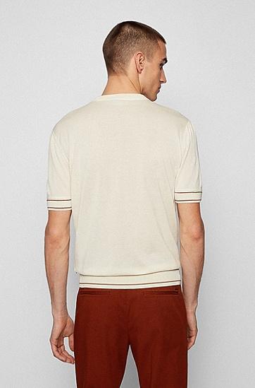 丝光棉 T 恤风毛衣,  118_Open White