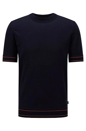 丝光棉 T 恤风毛衣,  402_Dark Blue
