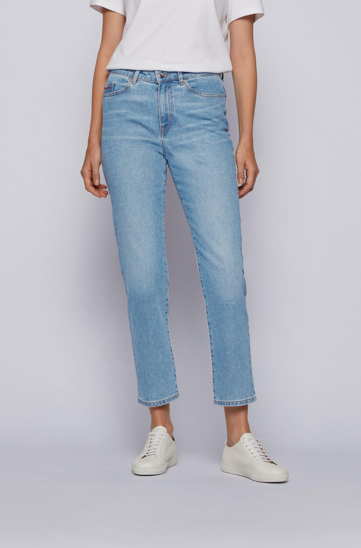 Regular-fit jeans in vintage-blue comfort-stretch denim, Blue