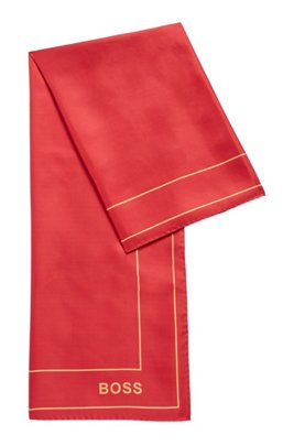 Square scarf in silk twill, Pink