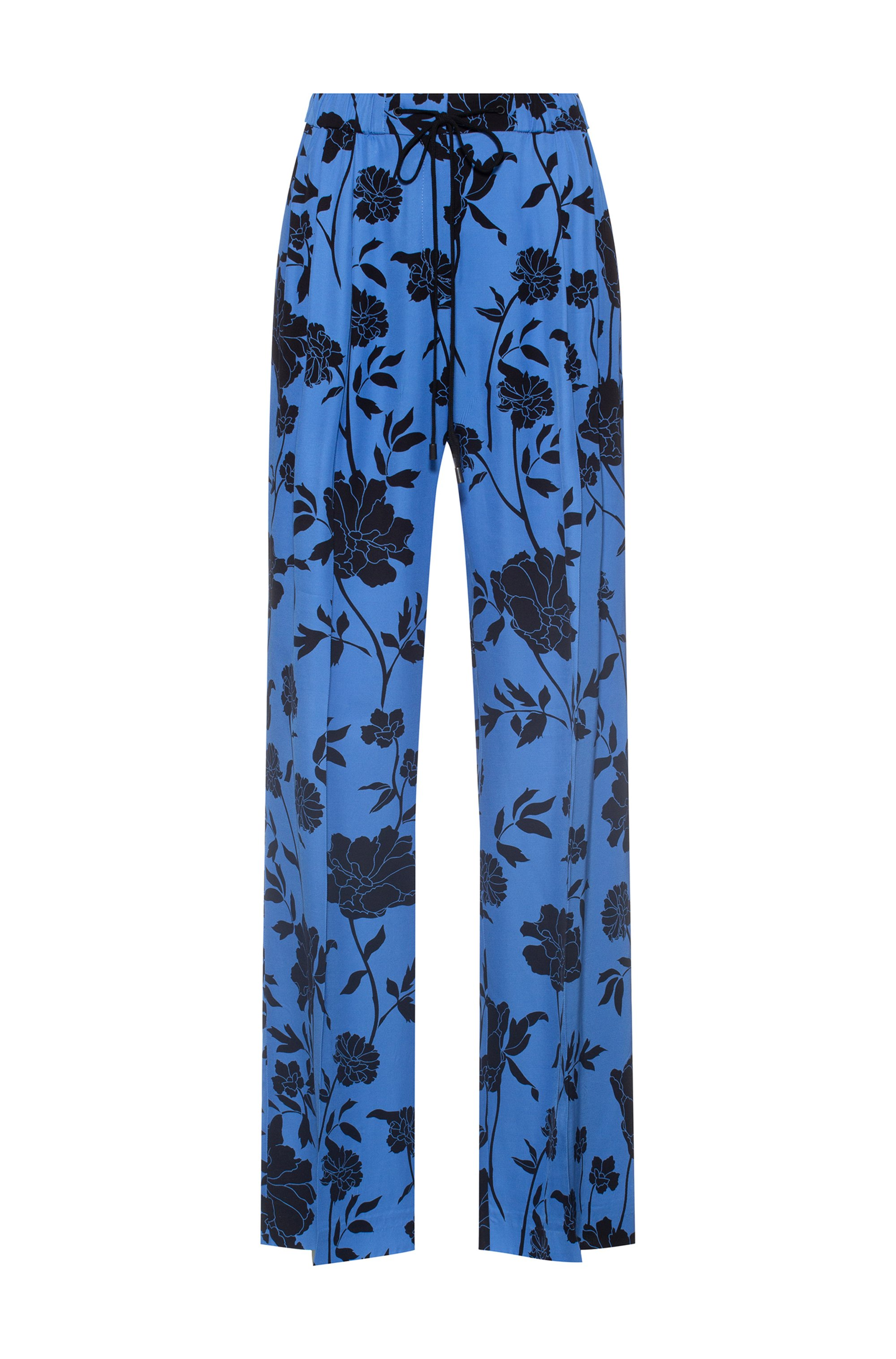 Relaxed-fit wide-leg trousers with collection-themed print, Patterned