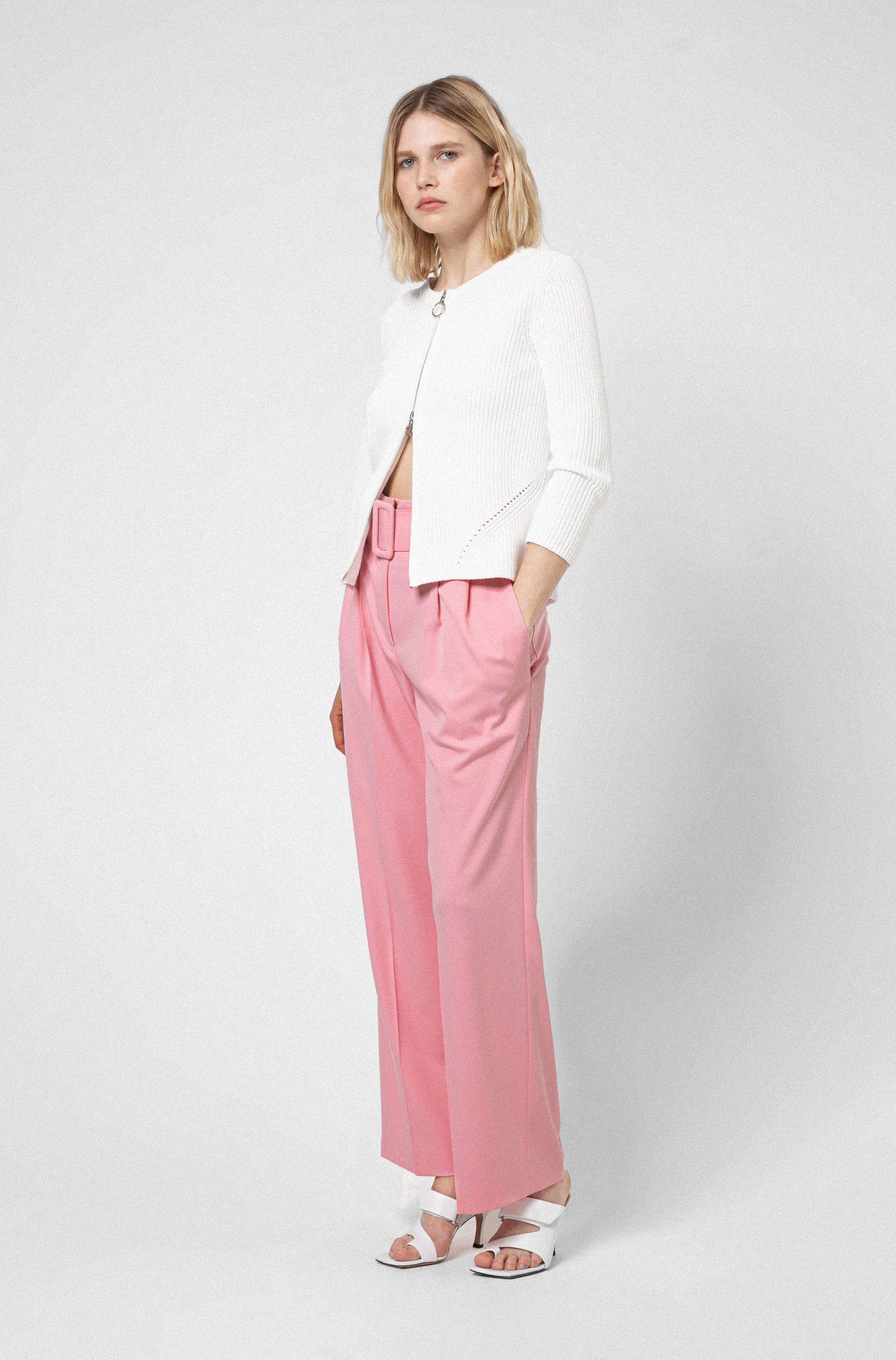 Zip-up cardigan in organic cotton