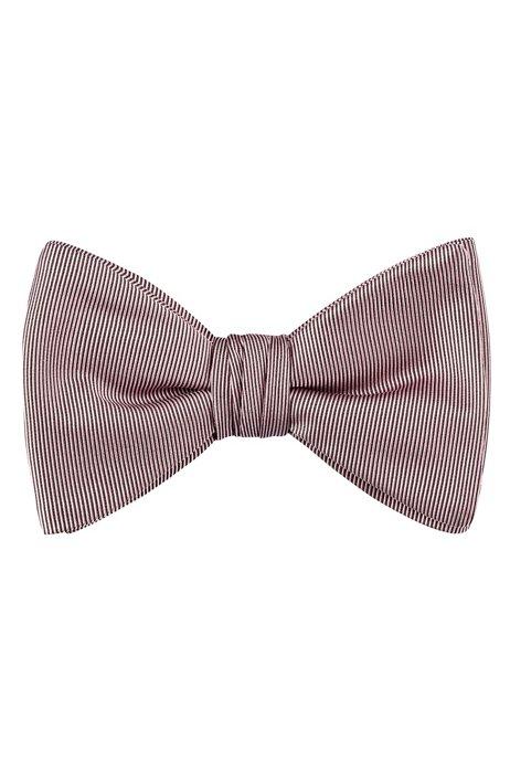 Bow tie in pure-silk jacquard, ブラック パターン