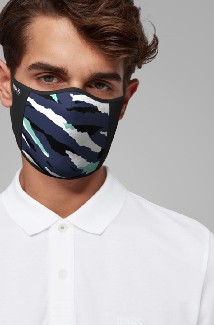 Face mask with new-season print