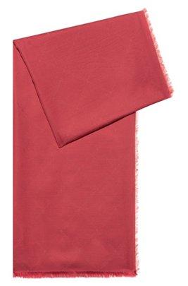 Bufanda con logo en jacquard de modal y lana, Rojo