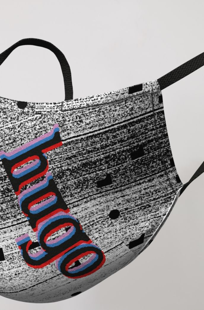 Face mask with new-season graphic print