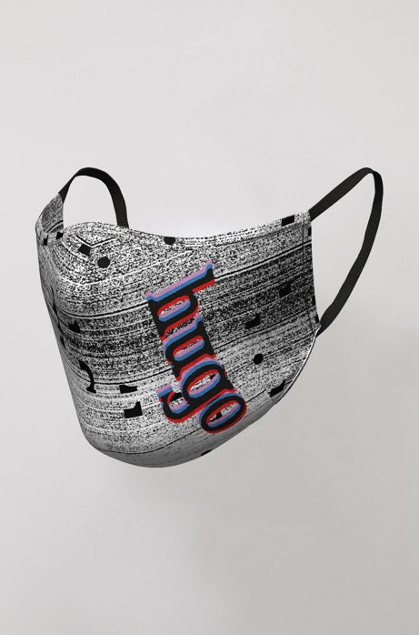 Face mask with new-season graphic print, Patterned