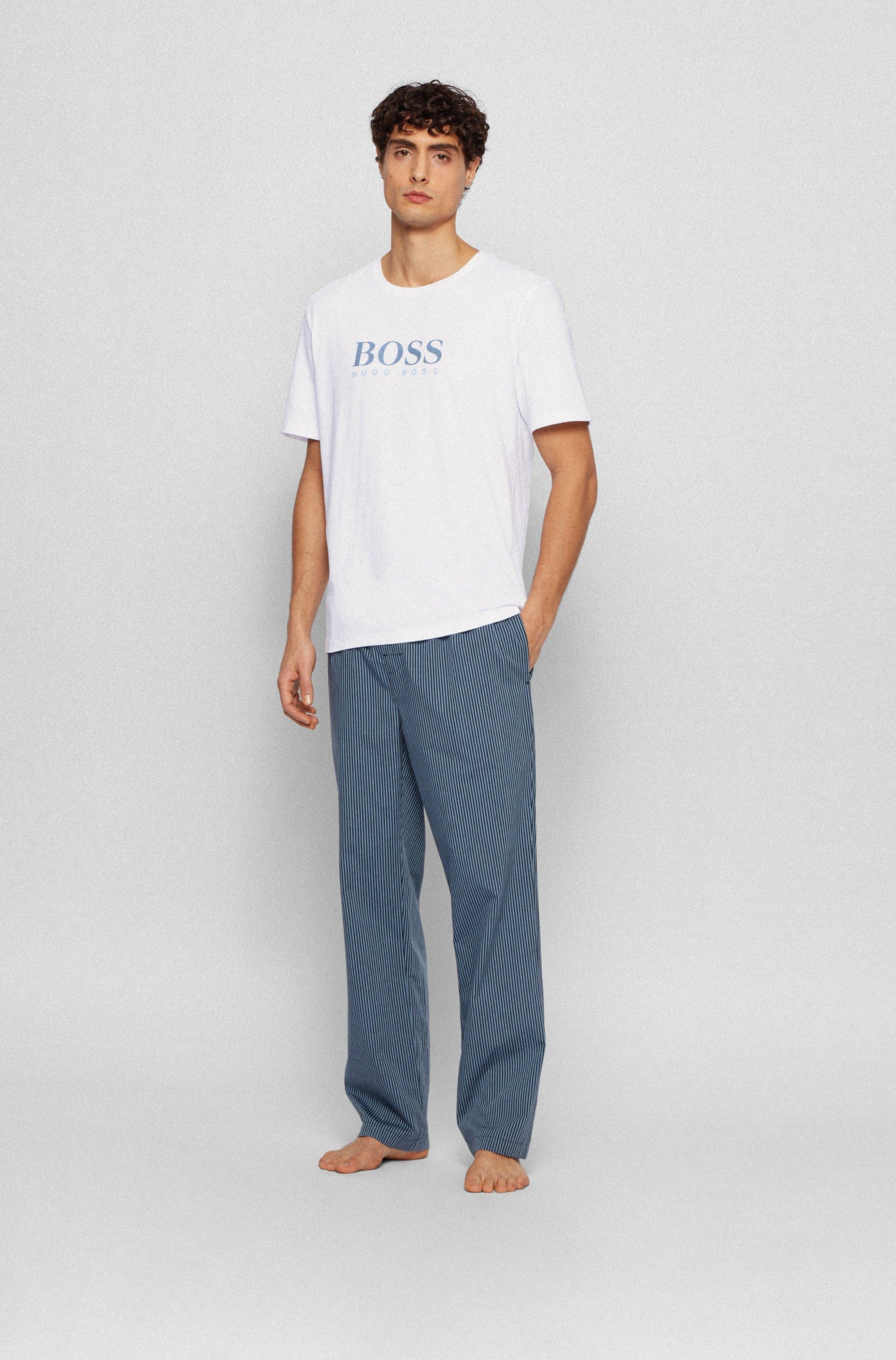 Pyjama-Shirt aus elastischer Baumwolle
