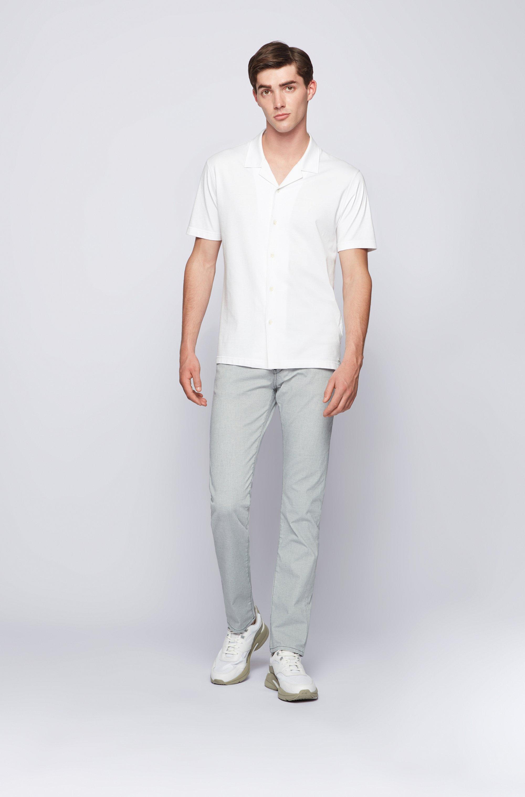 Slim-fit jeans in structured stretch denim