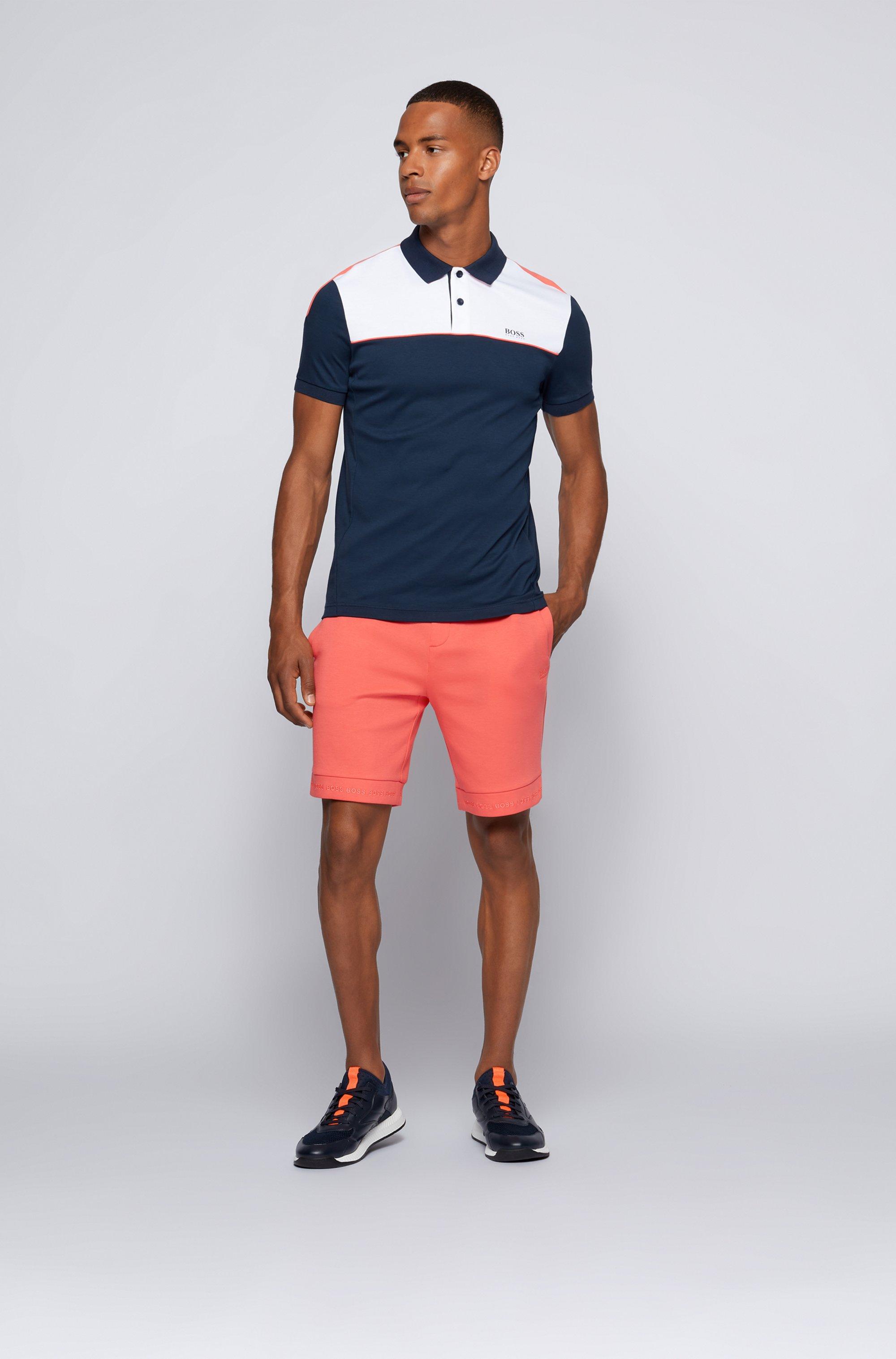 Polo Slim Fit color block en coton