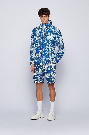 新季印花弹力棉短裤,  428_Medium Blue