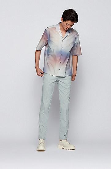 结构纹理弹力棉修身休闲裤,  050_Light/Pastel Grey