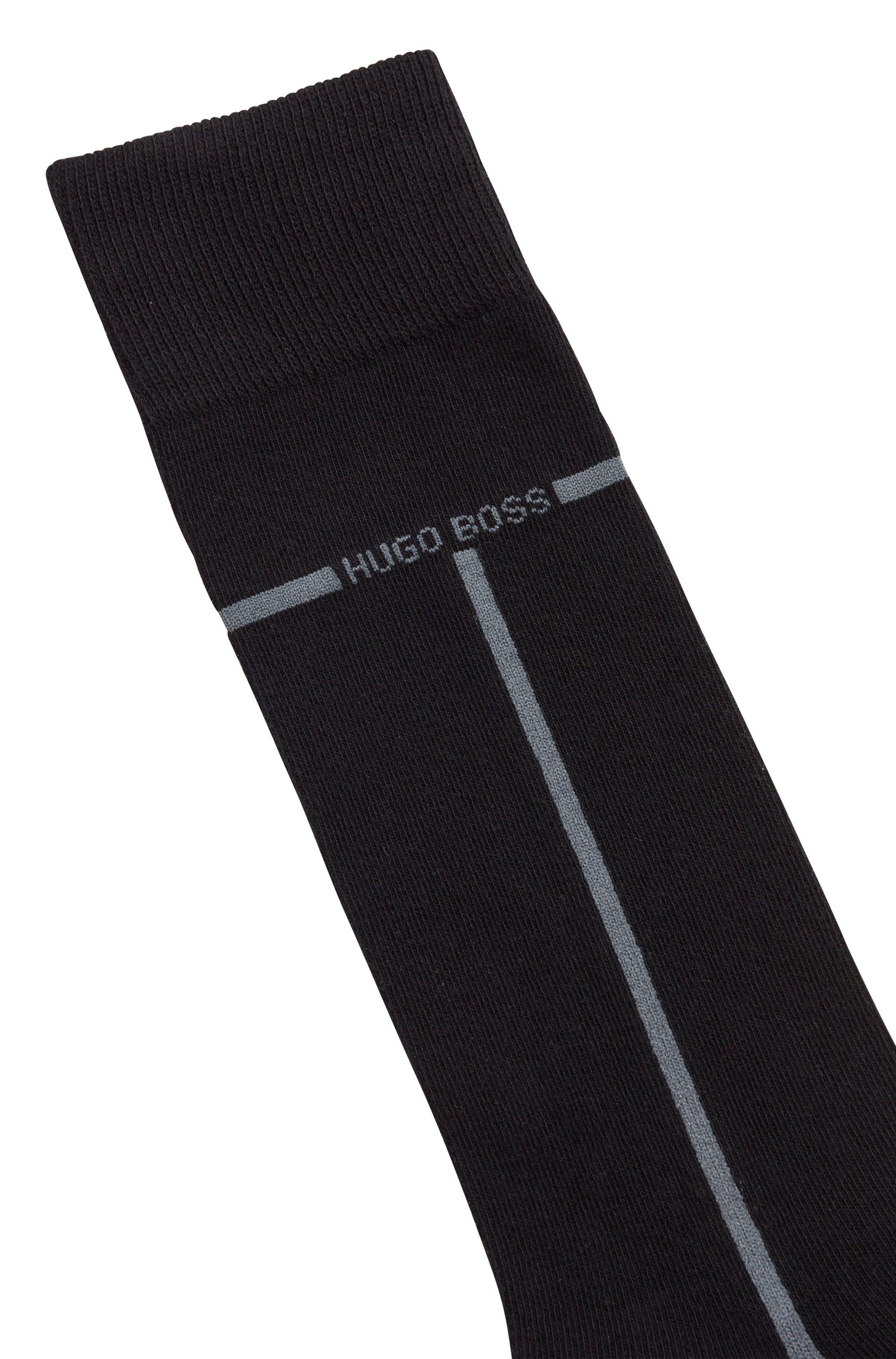 Set van twee paar sokken van een katoenmix in standaardlengte