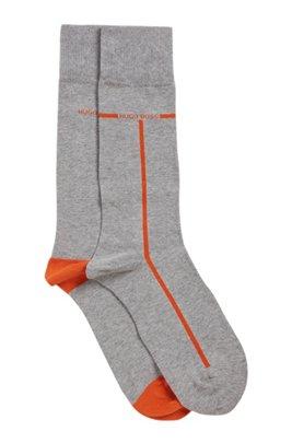 Two-pack of regular-length cotton-blend socks, Silver