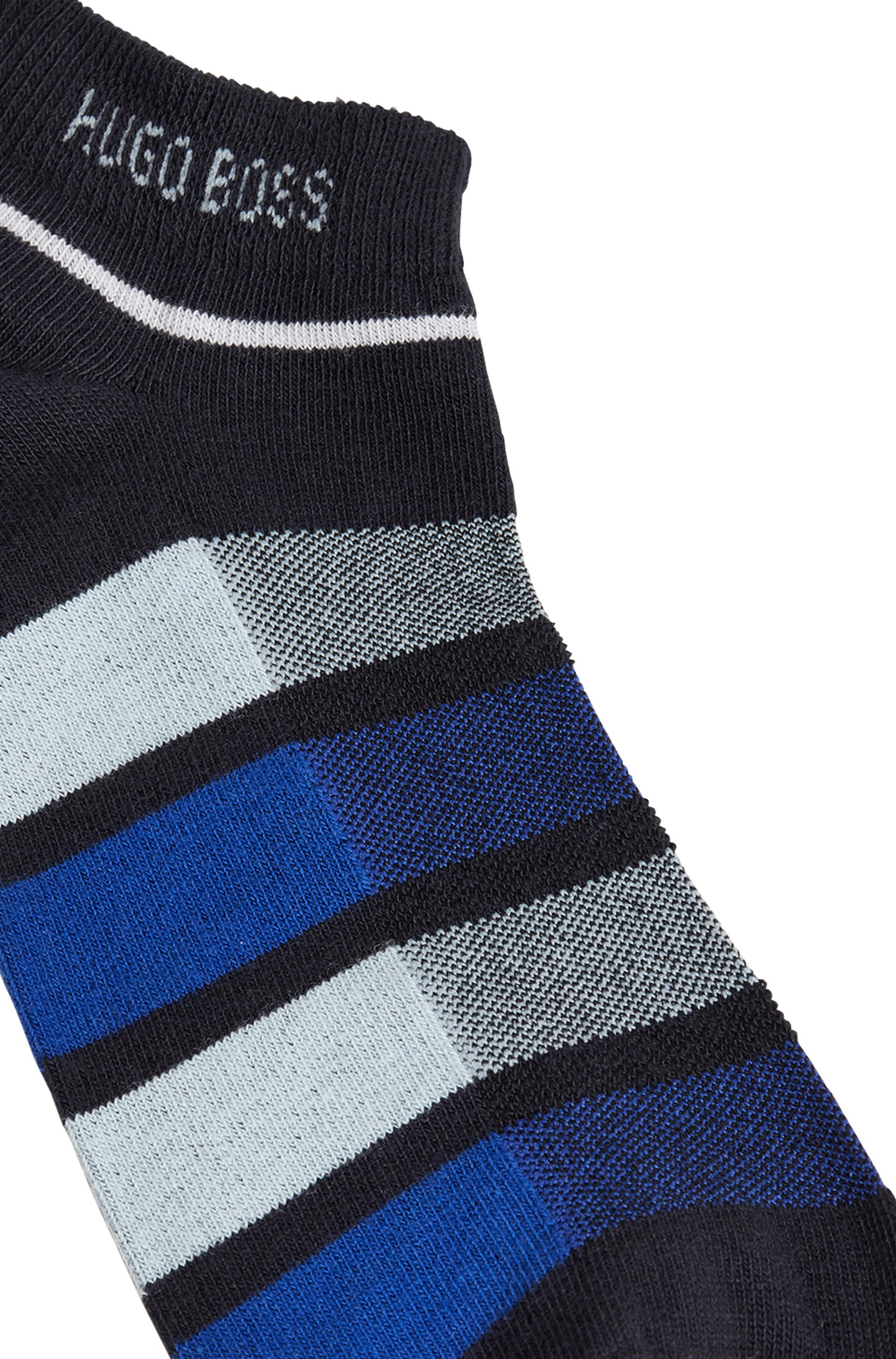 Two-pack of ankle socks in a combed-cotton blend