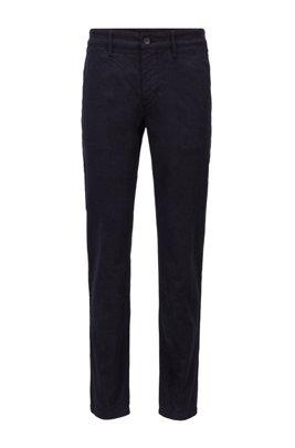 Tapered-fit broek van stretchkatoen met ton-sur-ton ruitje, Donkerblauw