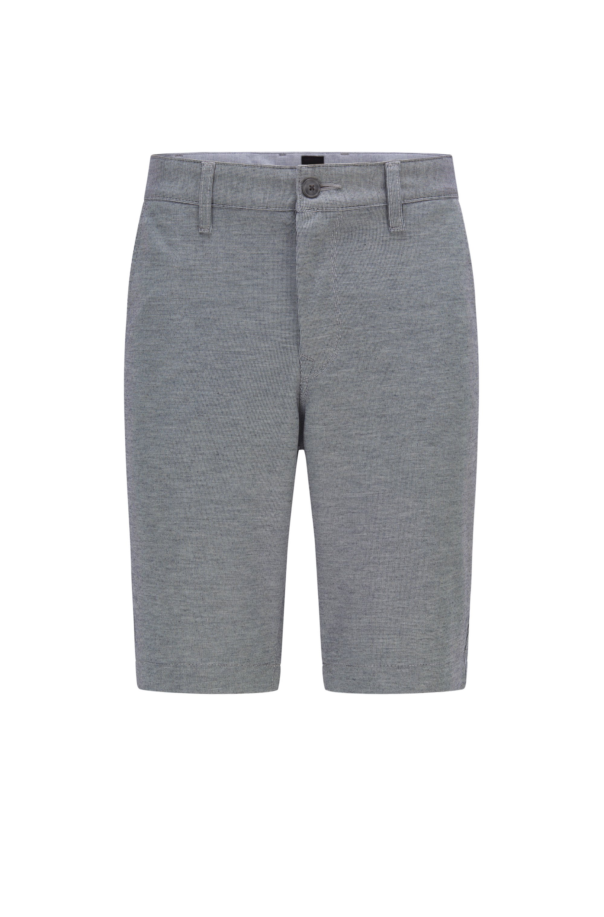 Tapered-fit shorts in two-tone knitted stretch fabric, Grey