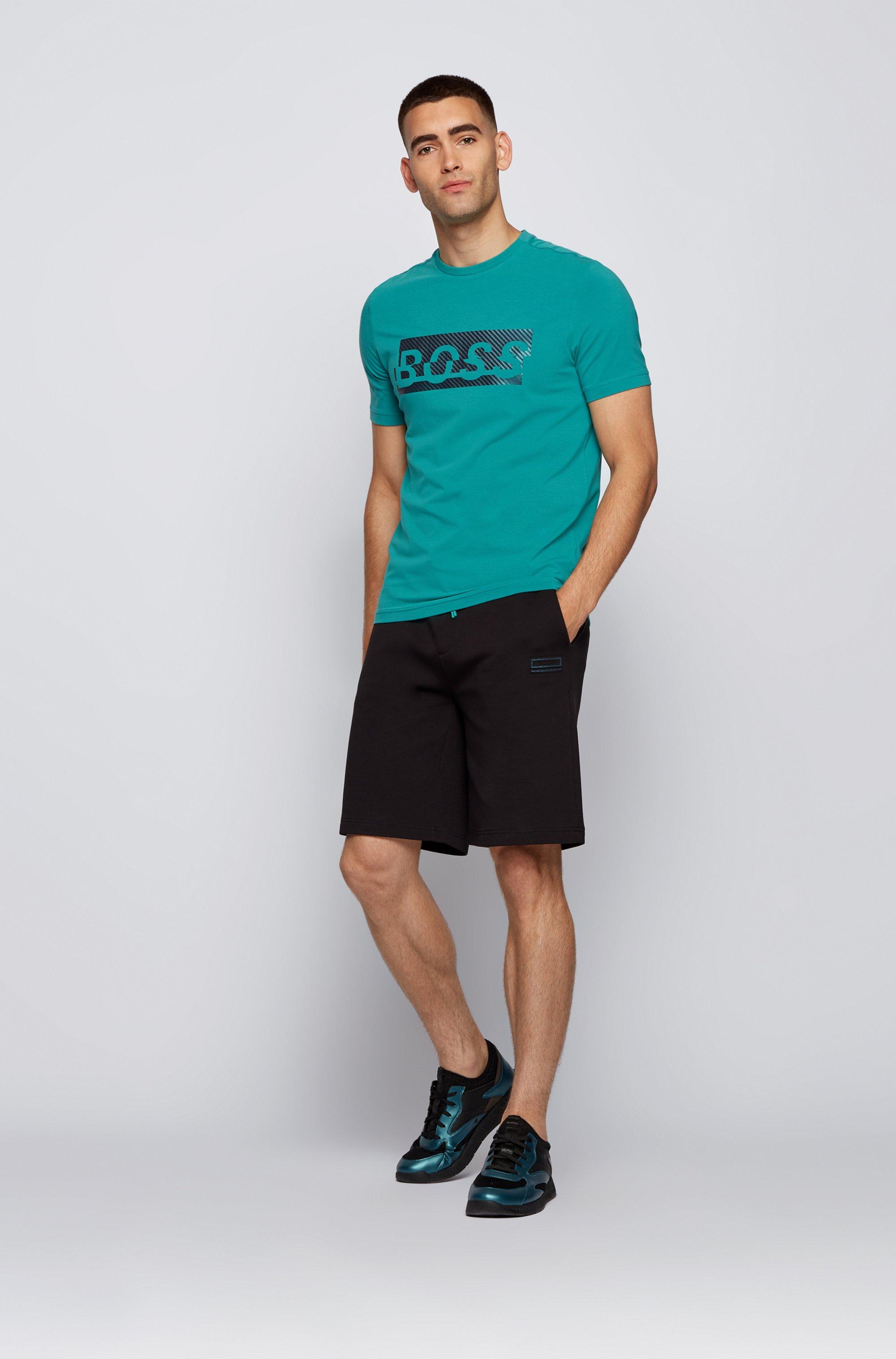 T-shirt en coton stretch avec logo artistique de la nouvelle saison