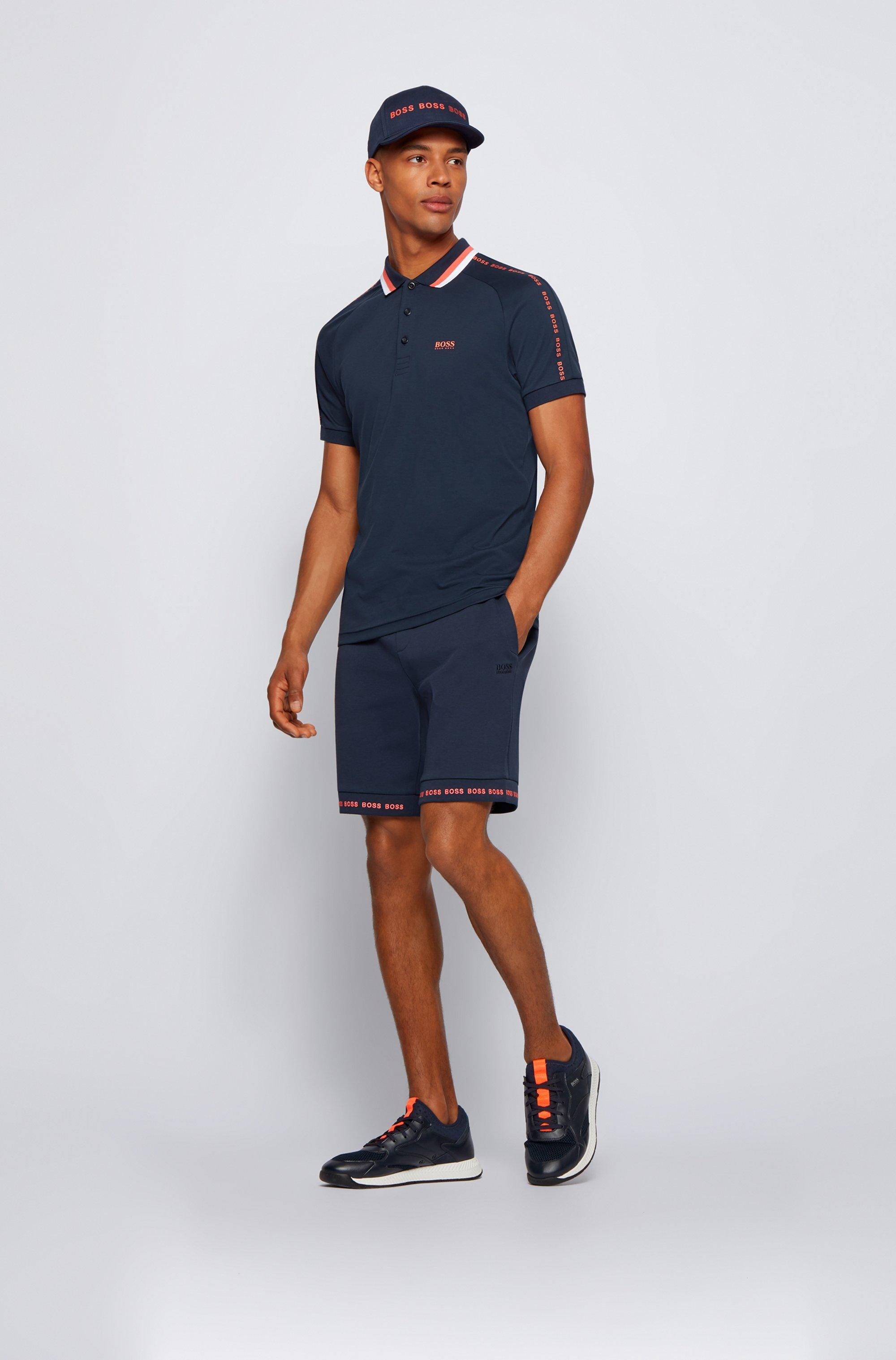 Polo Slim Fit en coton à col rayé