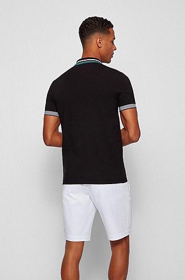 Air Cool 弹力棉修身 Polo 衫,  001_Black