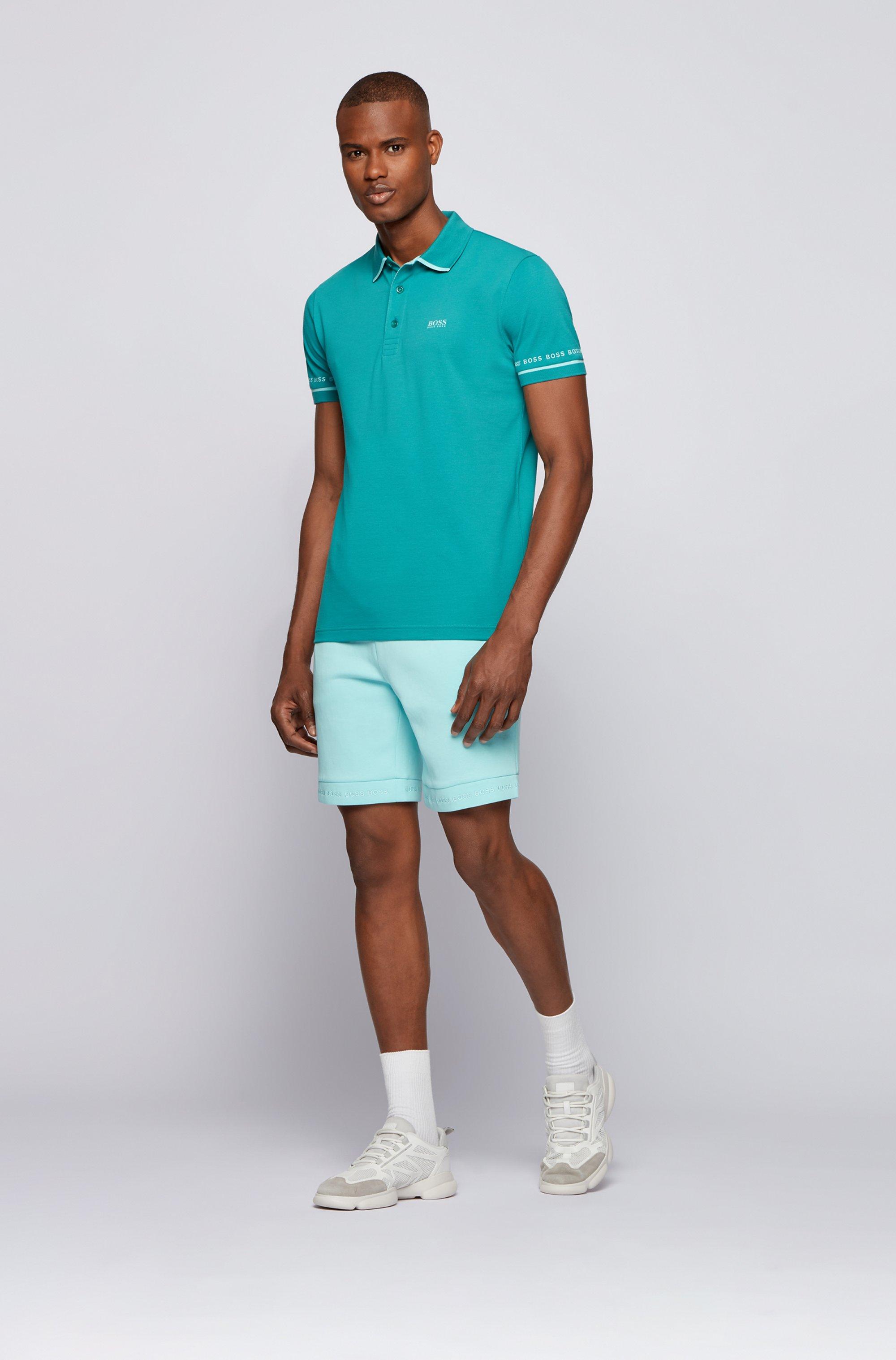 Piqué-Poloshirt aus Pima-Baumwolle mit Logo-Details