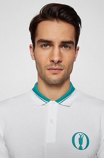 S.Café® 弹力珠地布系列主题 Polo 衫,  100_White
