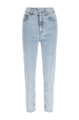 Jean Relaxed Fit en denim de coton délavé, Bleu