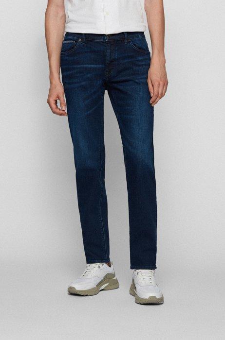 Regular-fit jeans van donkerblauw stretchdenim, Donkerblauw