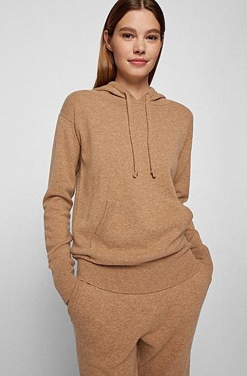 羊绒羊毛混纺连帽毛衣,  235_Light/Pastel Brown
