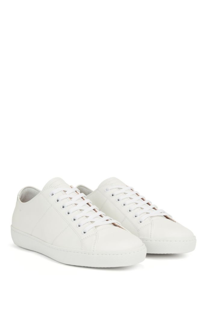 Low-profile trainers in Nappa leather with embossed logo