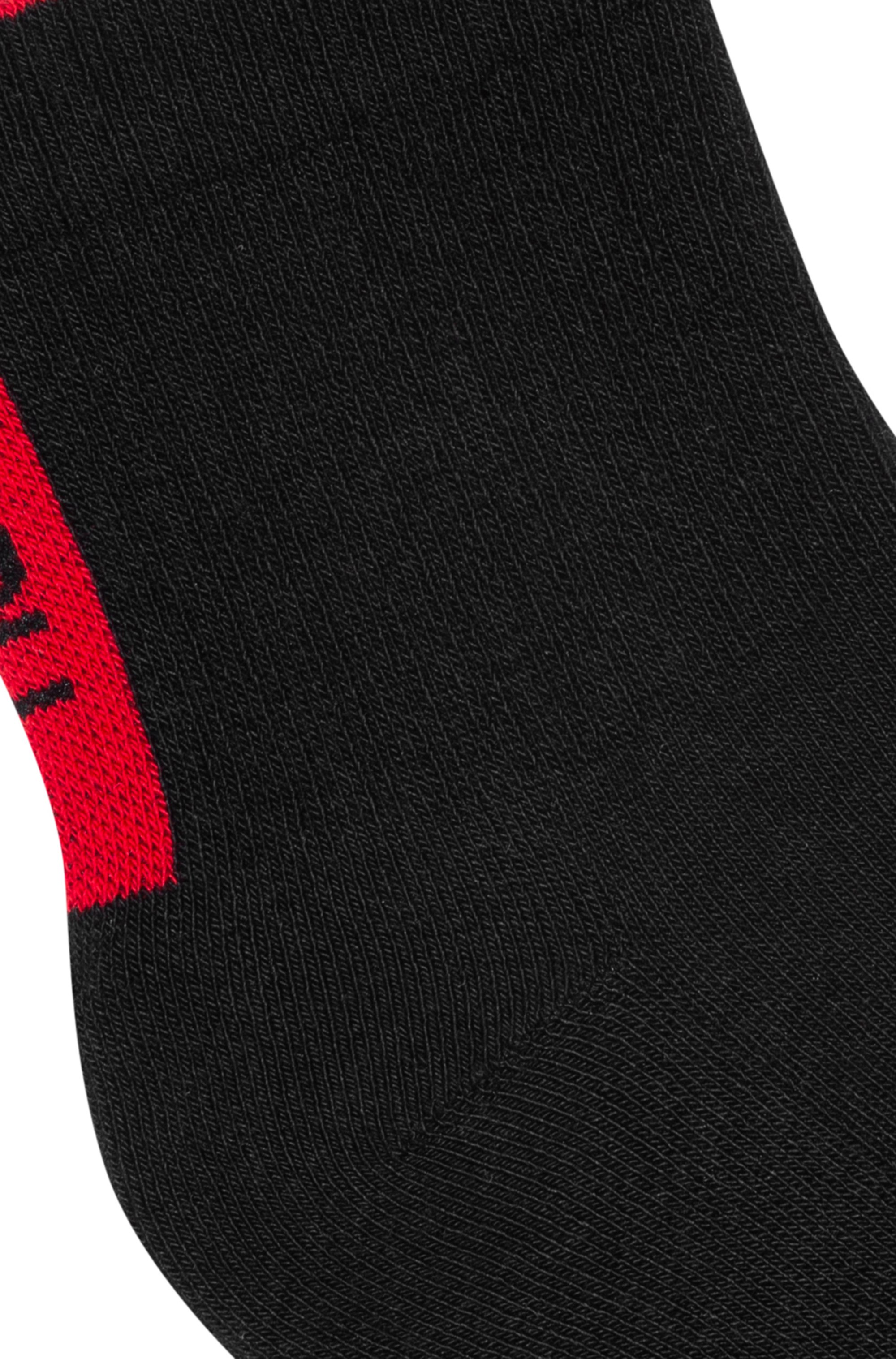 Two-pack of ribbed sports socks with logos