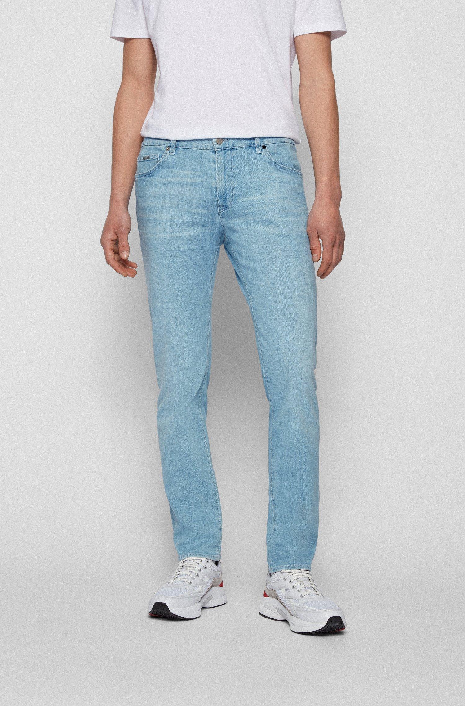 Regular-fit jeans van blauw Italiaans denim met een kasjmierfeel, Lichtblauw